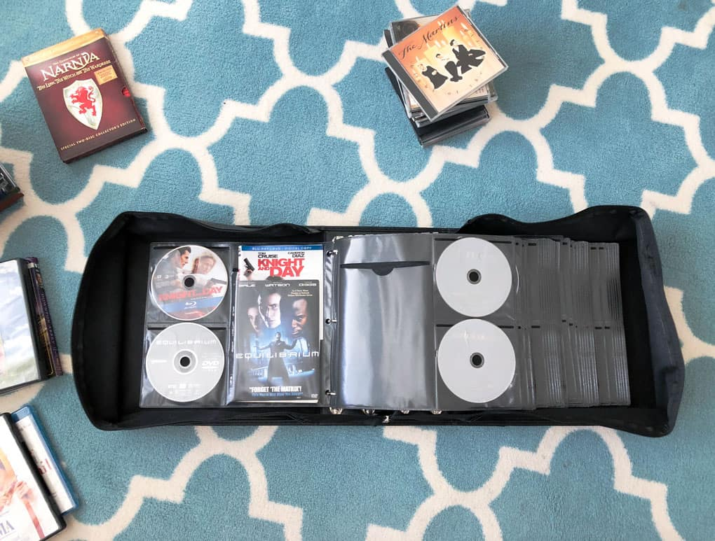 dvd binder and organized media