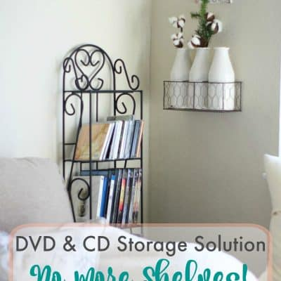 DVD and CD Storage Solution – No More Shelves!