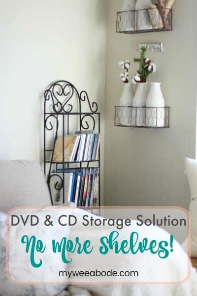 DVD and CD Storage Solution – No More Shelves!