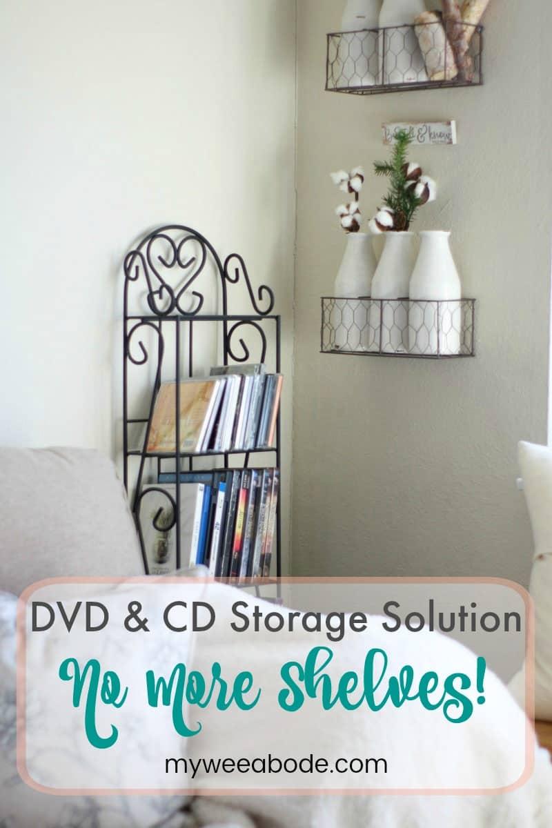 DVD CD storage solution binder no more rack
