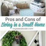 pros and cons of small home living living room with sofa console furniture chair and window pane with wreath and lanterns