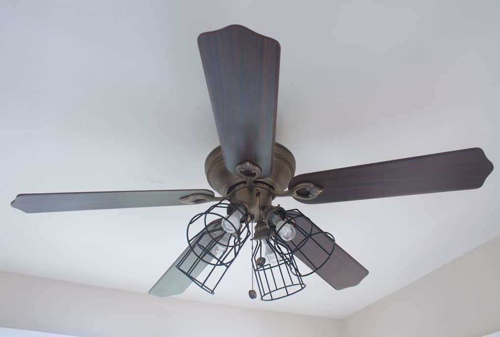 Ceiling Fan Makeover Farmhouse Style My Wee Abode