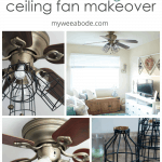 celing fan makeover farmhouse style photos of ceiling fan and parts
