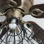 ceiling fan makeover farmhouse style ceiling fan with cage shades