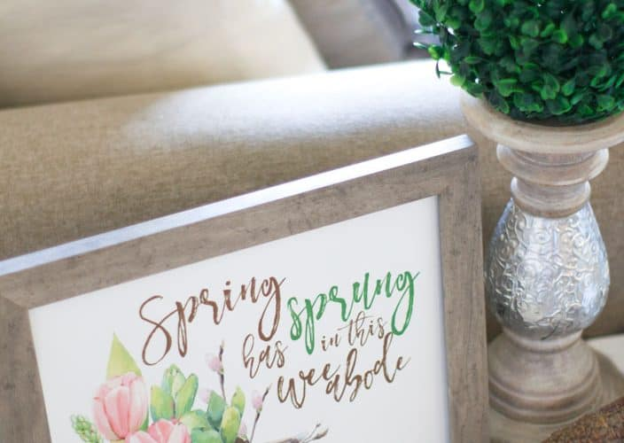 free spring printable wall art
