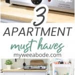 three must haves for small homes collage of small home item products