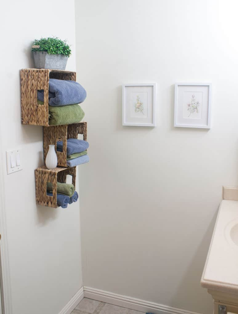 affordable storage solutions small bathrooms