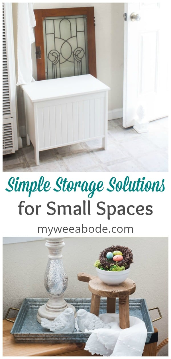 These three items are great solutions for living in a small home, apartment or rental.