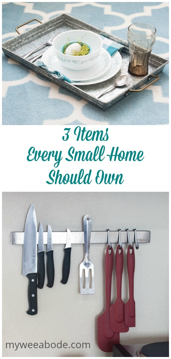 These three items help make living in a small home, apartment or rental home more pleasant and easy! Great storage solutions for any home!