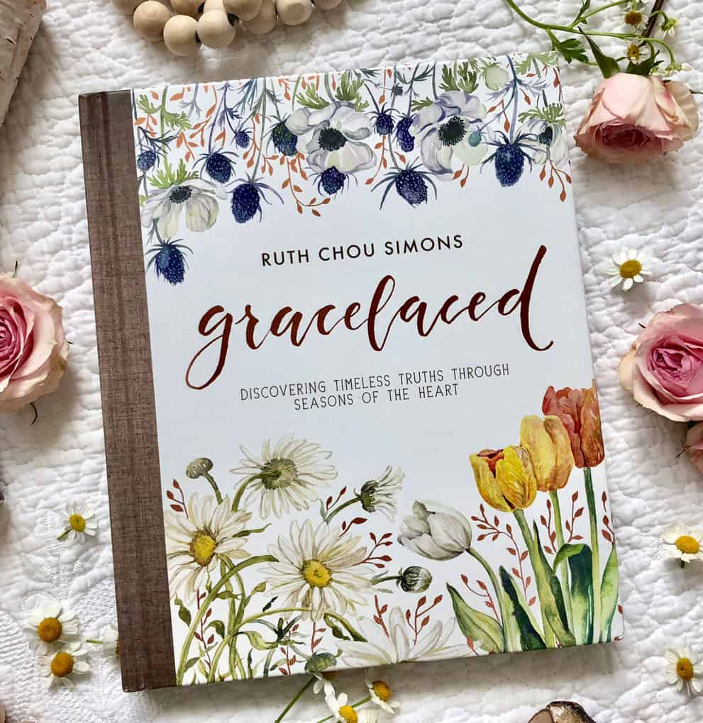 book cover of Gracelaced book with flowers