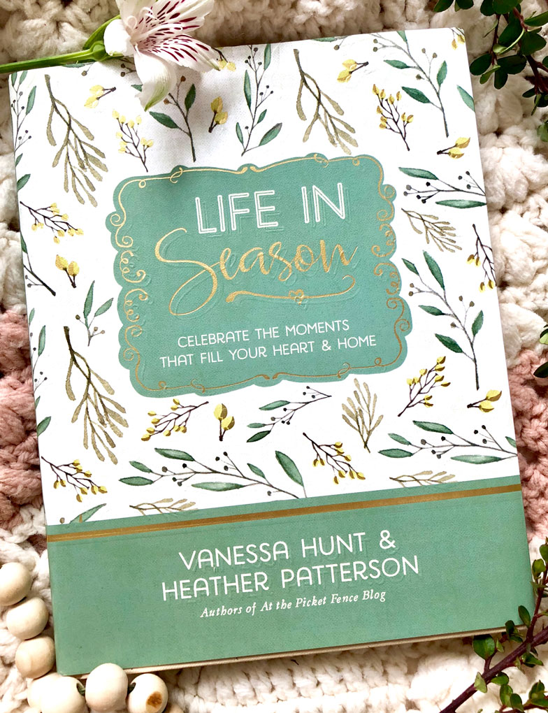 cover of life in season book with line drawings and author names
