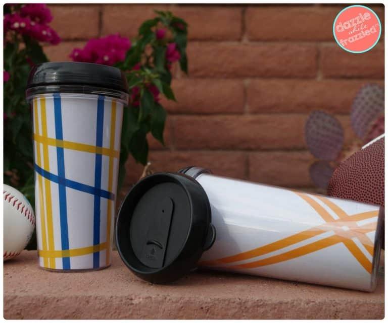 commuter coffee mugs with washi tape