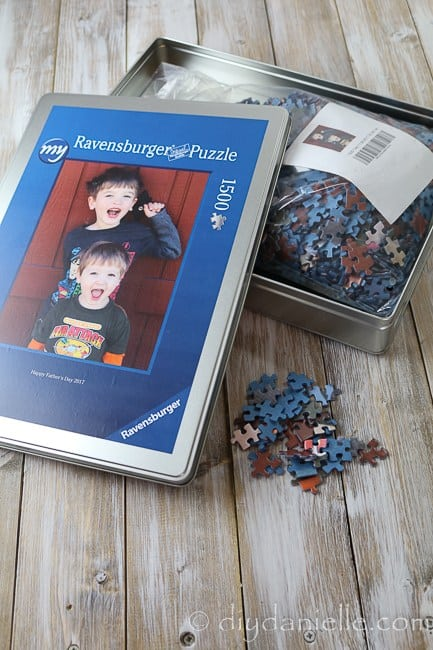 puzzle with childrens pictire on box