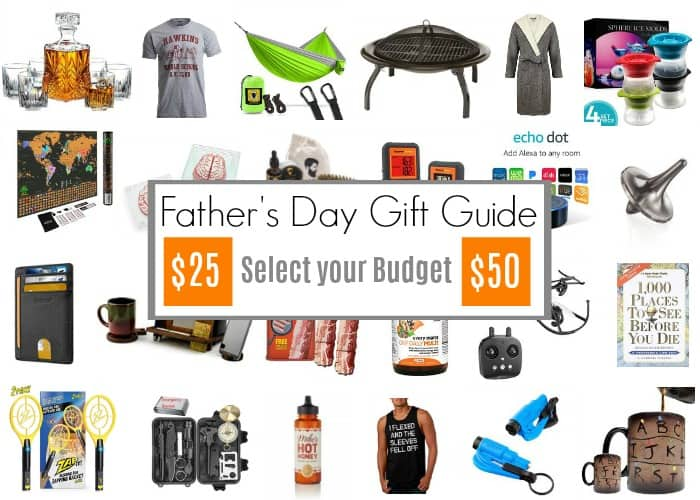 photo with lots of fathers day gift ideas