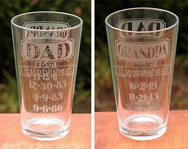 etched fathers day glasses