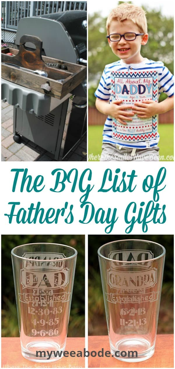 collage of father's day gifts