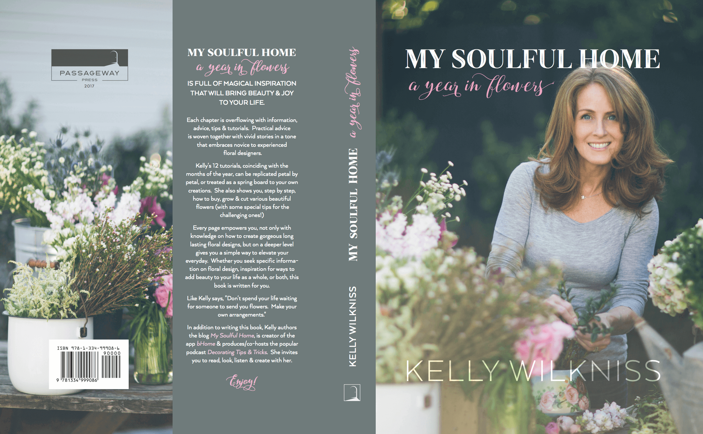 book cover my soulful home picturing Kelly Wilkniss