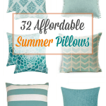 affordable summer pillow inspiration pillows in green yellow aqua and white
