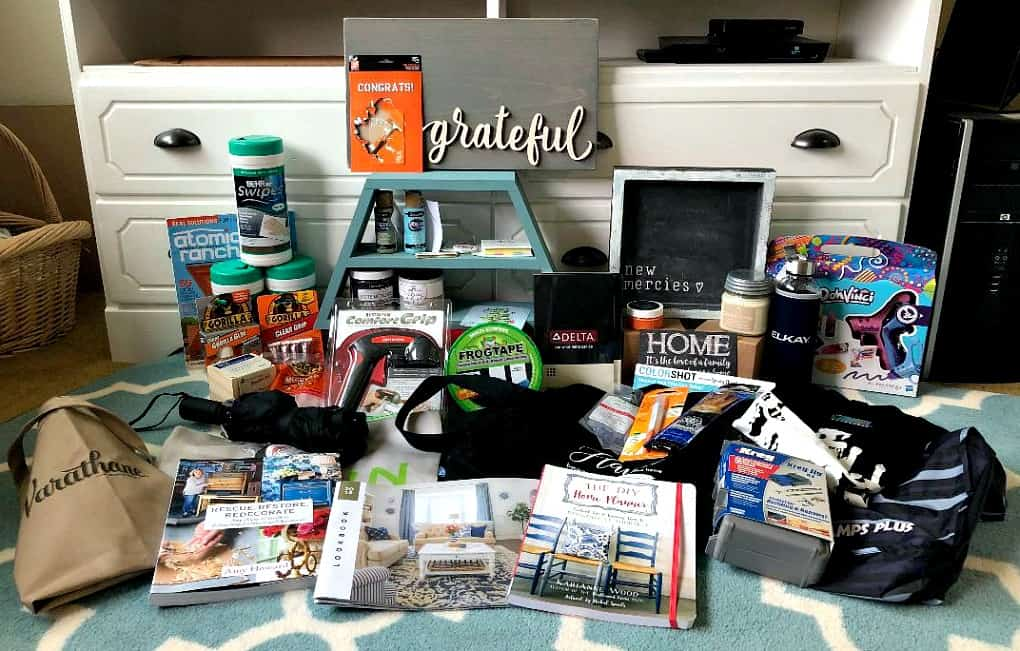 photo of swag and products received at Haven Conference