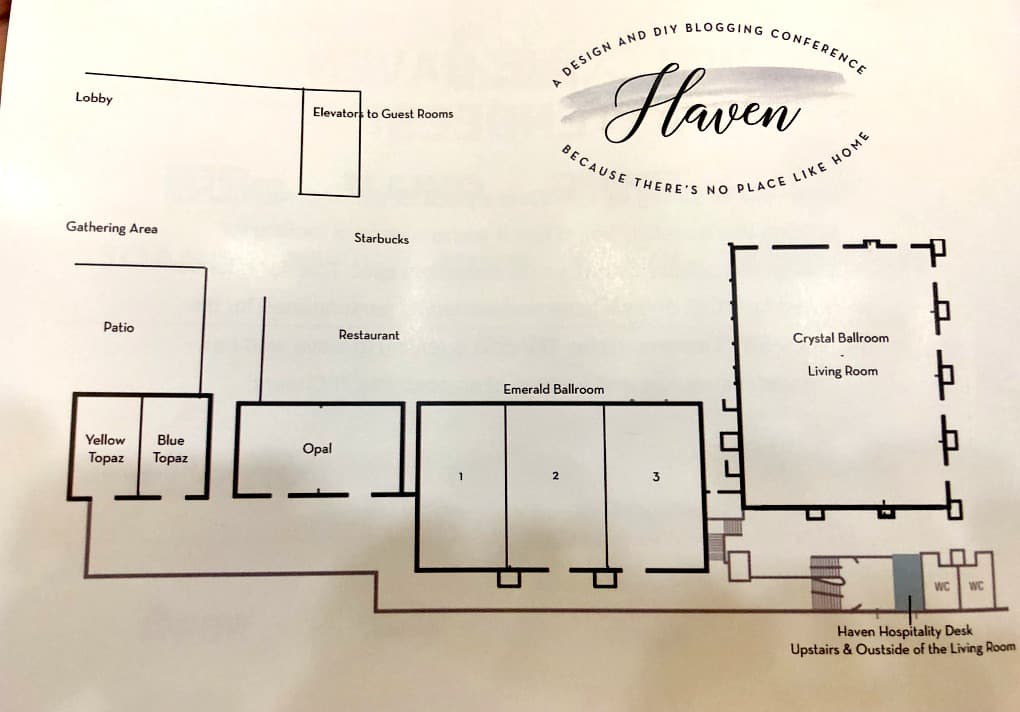 floor plan of the Marriott Hotel