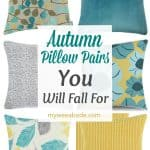 autumn pillow pairs in variety of colors and prints
