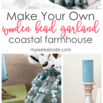 how to make a coastal farmhouse wood bead garland with starfish and painted beads