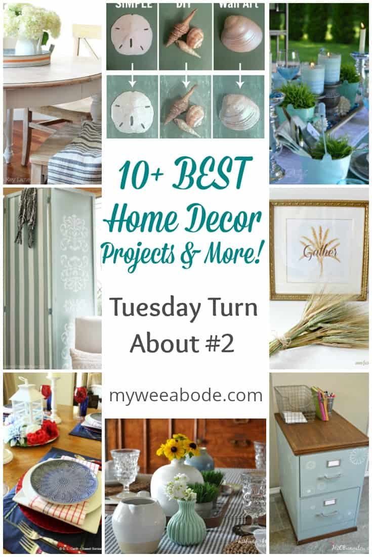 various photos of home decor projects with title 10+ best home decor projects and more tuesday turn about #2