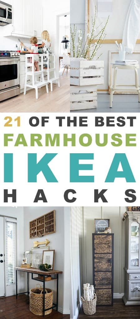 various photos with title 21 of the best farmhouse ikea hacks