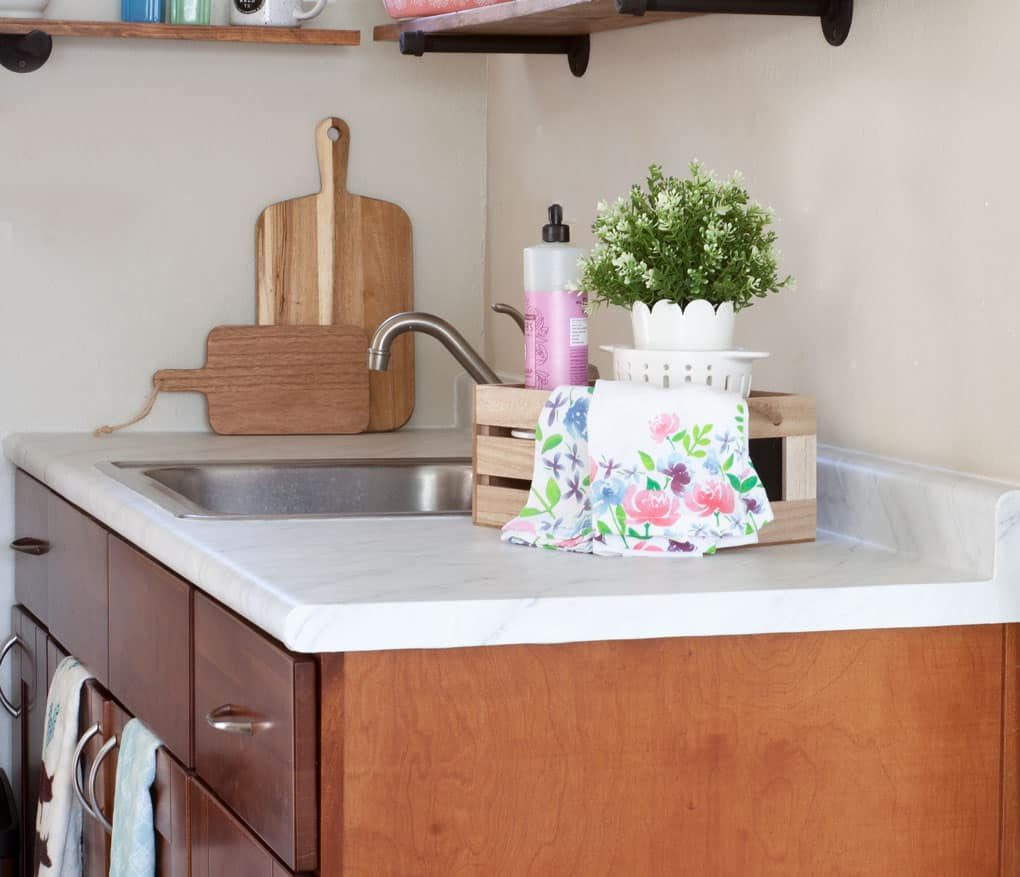 Diy Wood Kitchen Countertops: DIY Cheap Countertops With Contact Paper