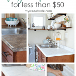 diy counter tops with contact paper photos of before and after