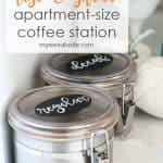 coffee canisters on counter