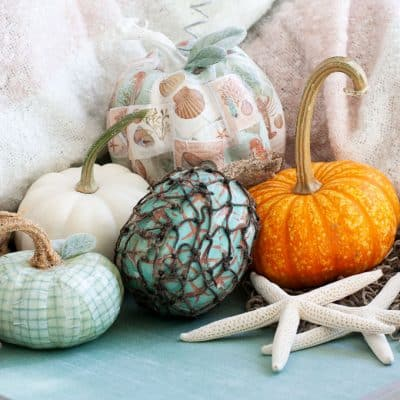 DIY Mod Podge Pumpkins Coastal Style