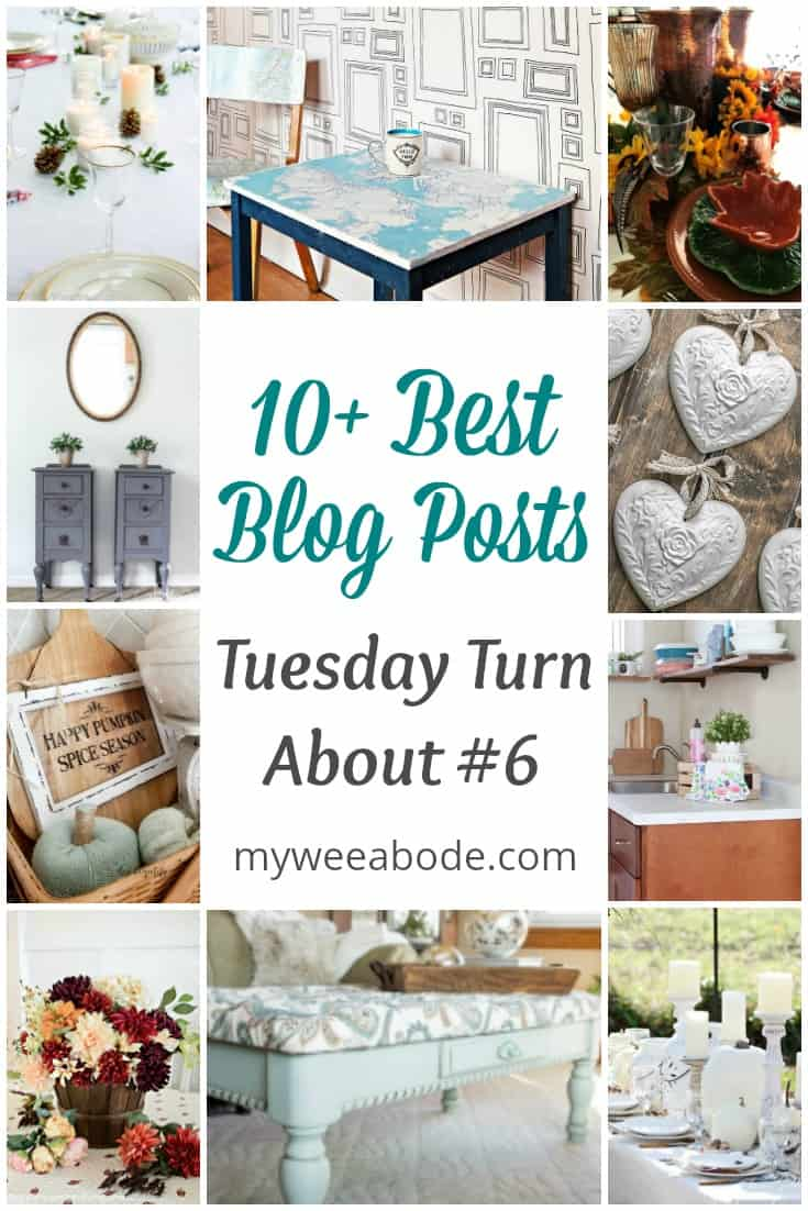 tuesday turn about #6 various photos of diy projects with title 10+ best blog posts