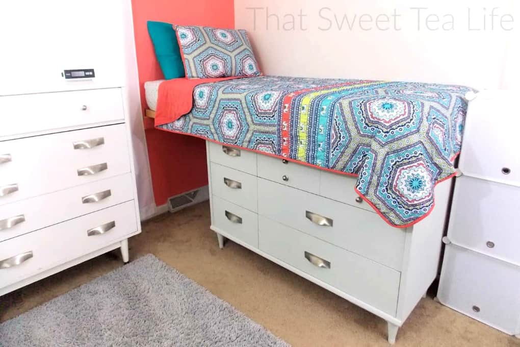 tuesday turn about 9 best blog diys childs room with white furniture orange wall and multicolor bedspread on bed