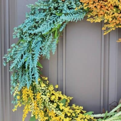 tuesday turn about 9 best blog diys wildflower wreath on gray door