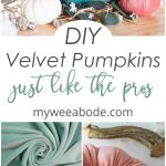 diy velvet pumpkins like the pros aqua velvet pumpkin with tutorial images