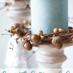 beautiful and useful fall decor items for your home with aqua candles and acorn rings
