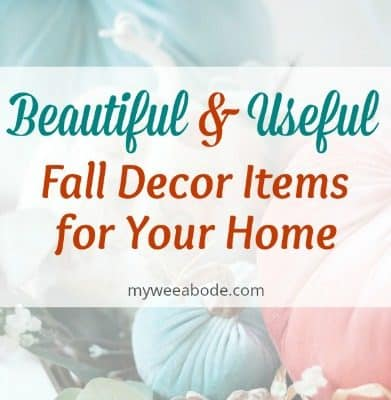 Beautiful and Useful Fall Decor Items