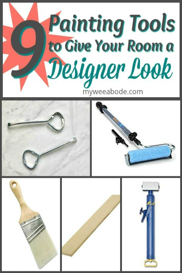 9 Painting Tools to Update Your Apartment with a Designer Look various painting tools and title