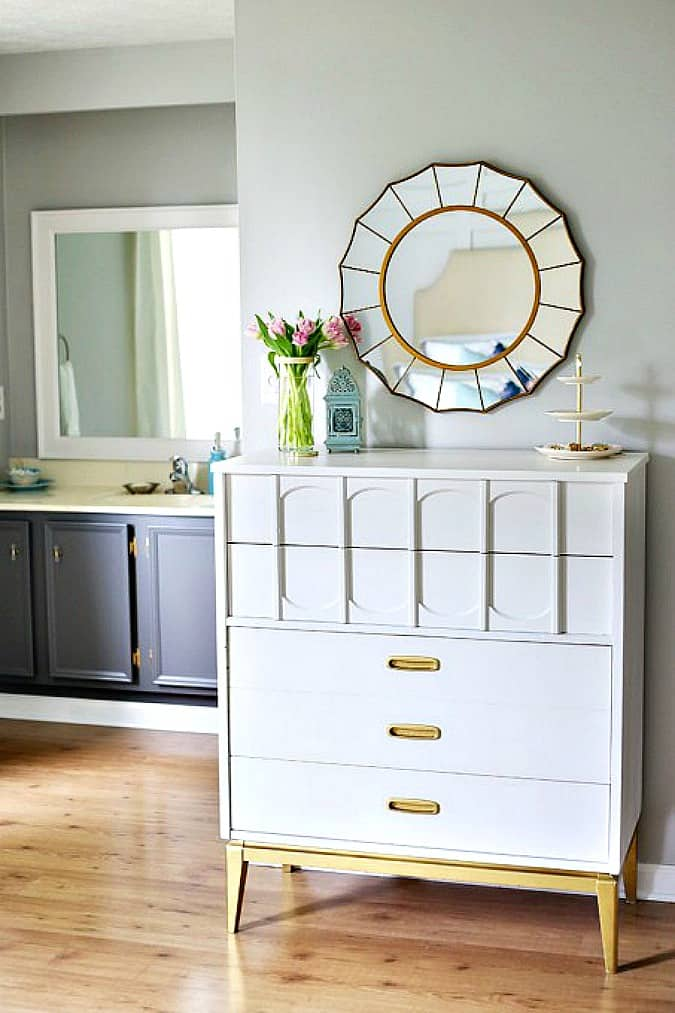 help me choose a living room paint color just a girl and her blog bedroom with dresser and bathroom on the side large sun mirror and pretty decor