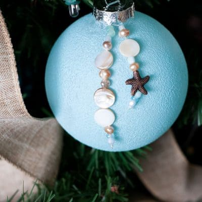 Easy DIY Coastal Christmas Ornaments