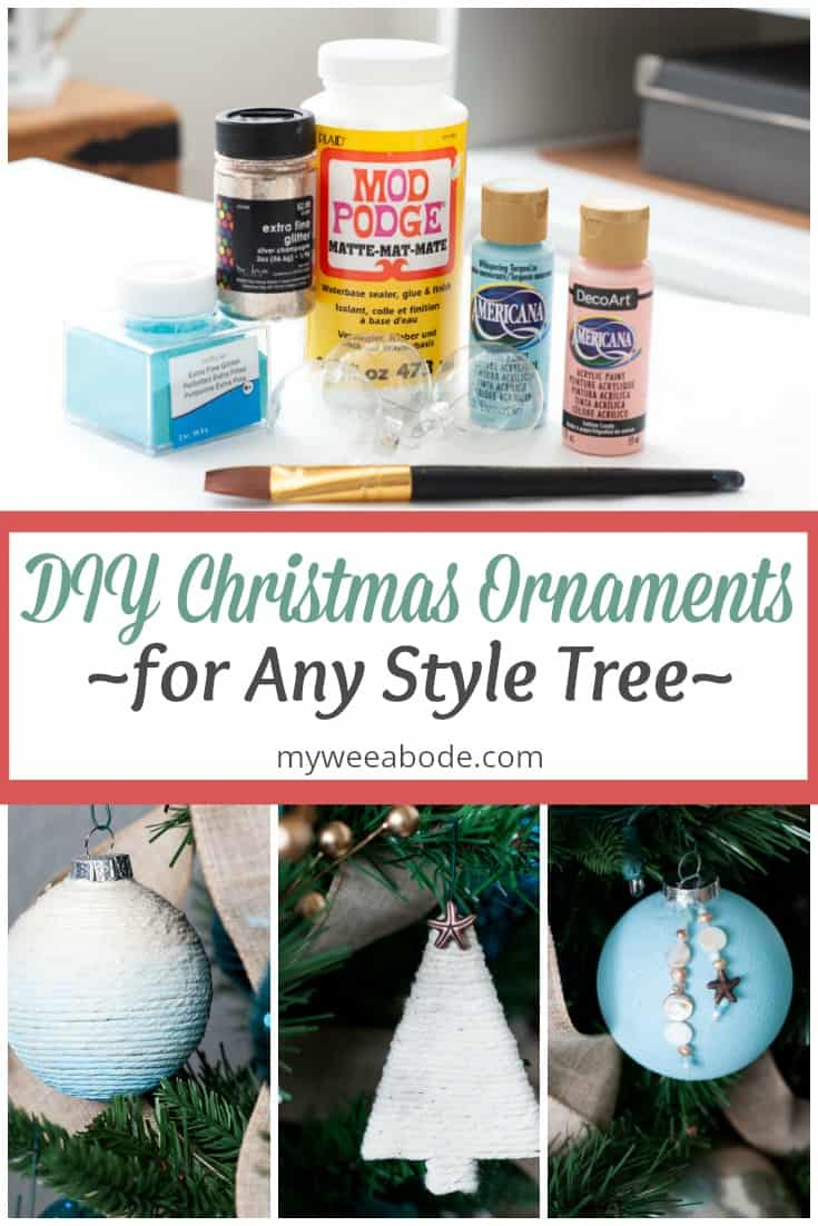 easy diy coastal christmas ornaments various ornaments and craft supplies with title