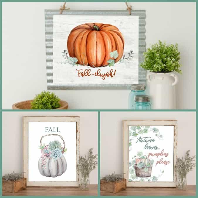 best of my wee abode 2018 fall season printables in frames