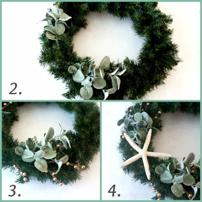 diy coastal farmhouse winter wreath step by step photos