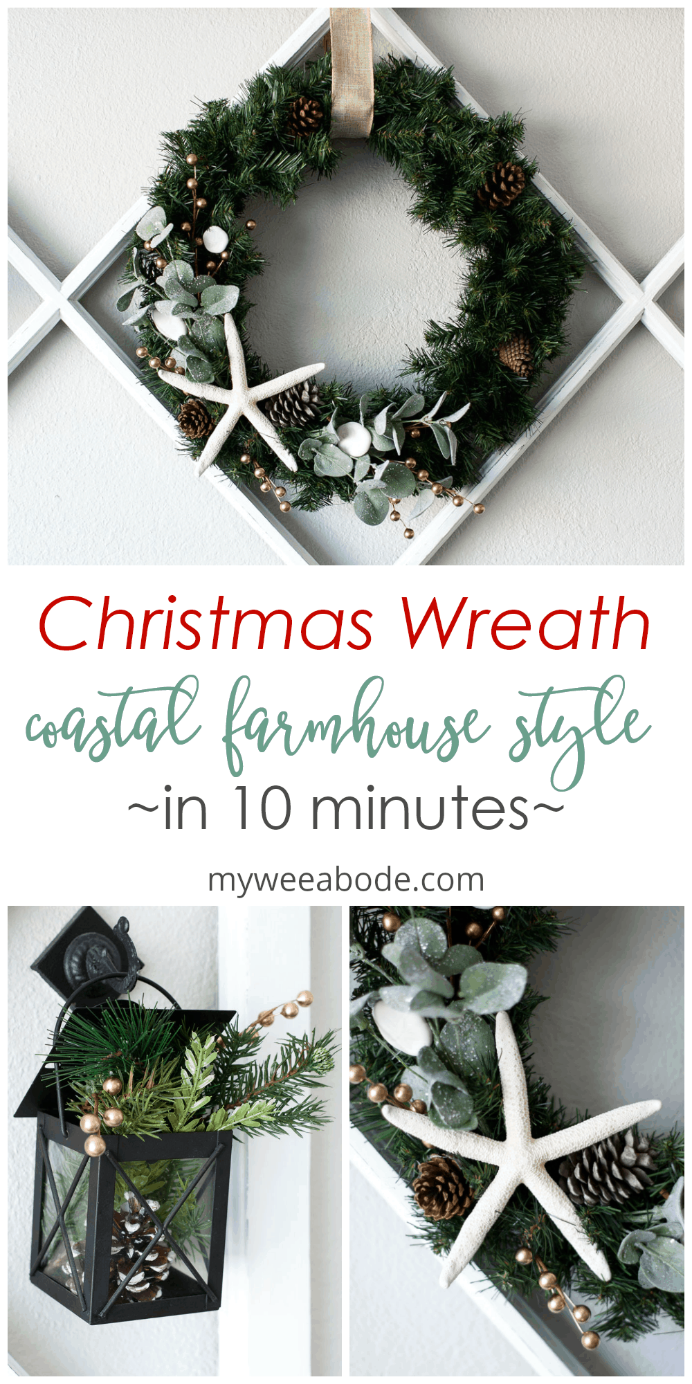 diy coastal farmhouse winter wreath various photos