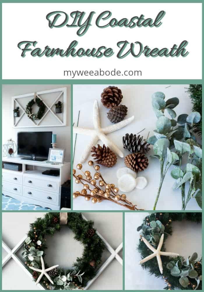 diy coastal farmhouse winter wreath step by step photos