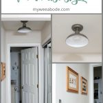 install wireless ceiling light remote on wall with photos and entrance to bathroom