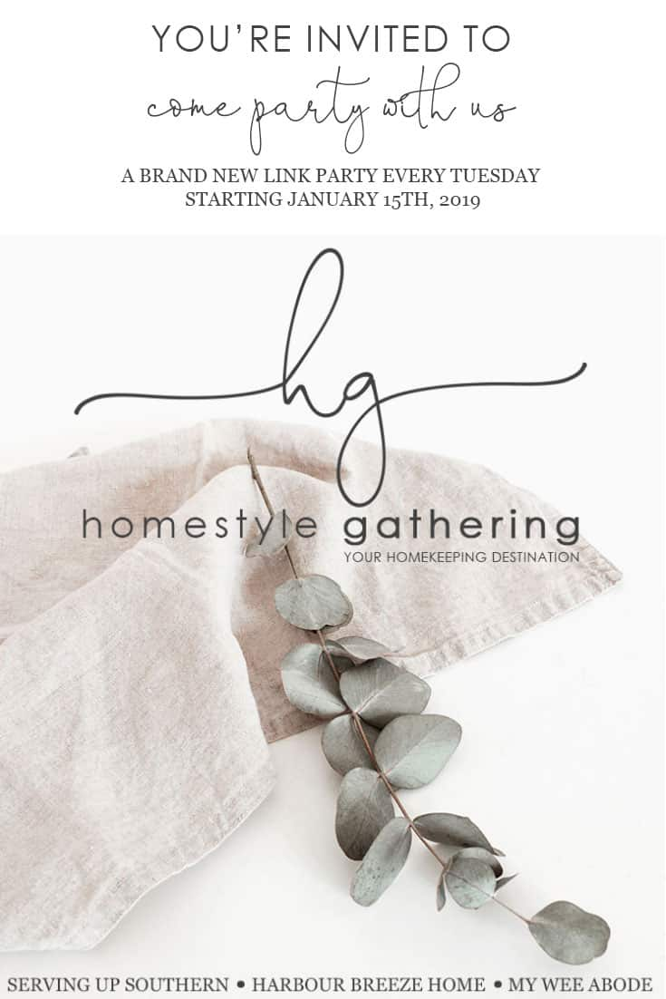 homestyle gathering new link party in town with linen cloth and eucalyptus branch