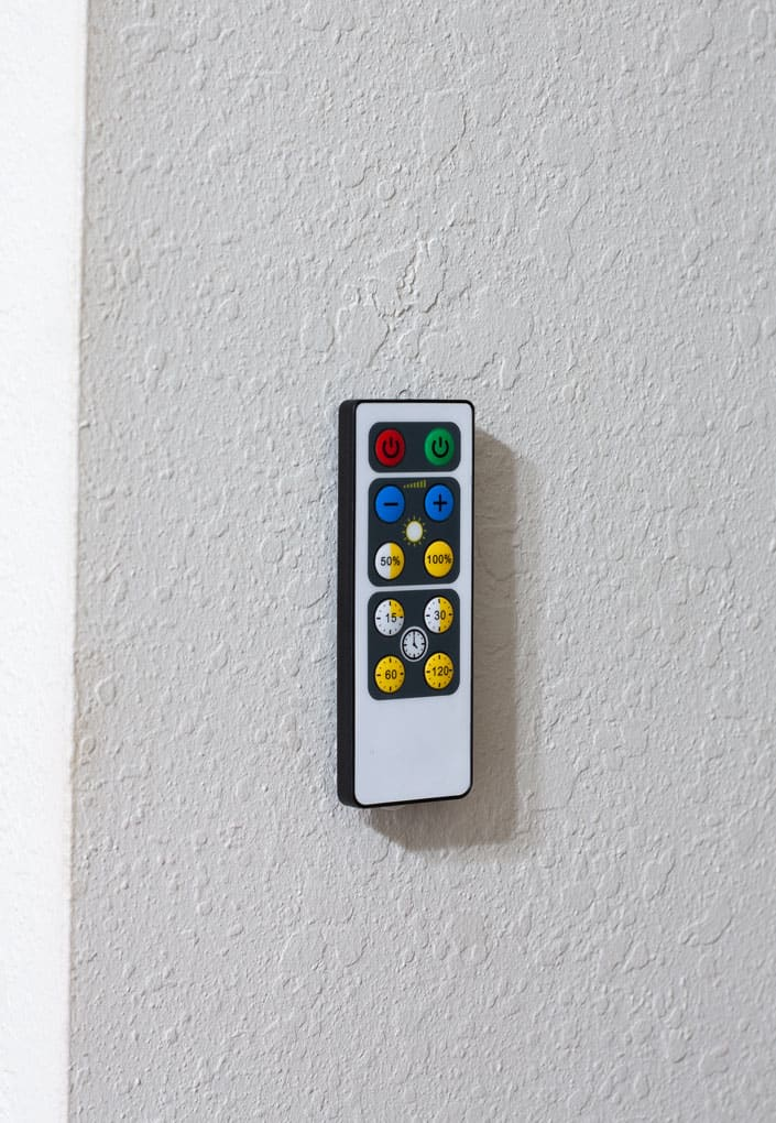 install wireless ceiling light remote on wall