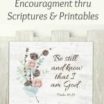 sunday be still printable with bible verse and scripture